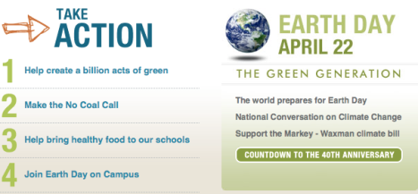 Earth Day - Take Action